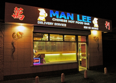 man lee chinese takeaway Lisburn