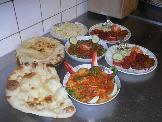 Indian Takeaway Dishes At Bokhara Holywood